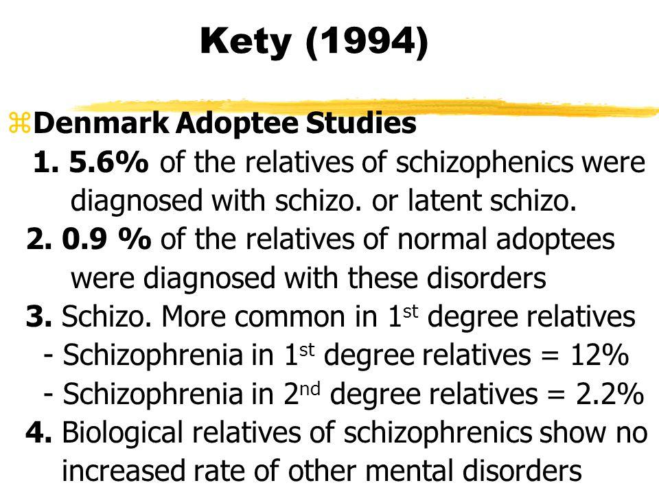 Kety (1994) zDenmark Adoptee Studies 1.
