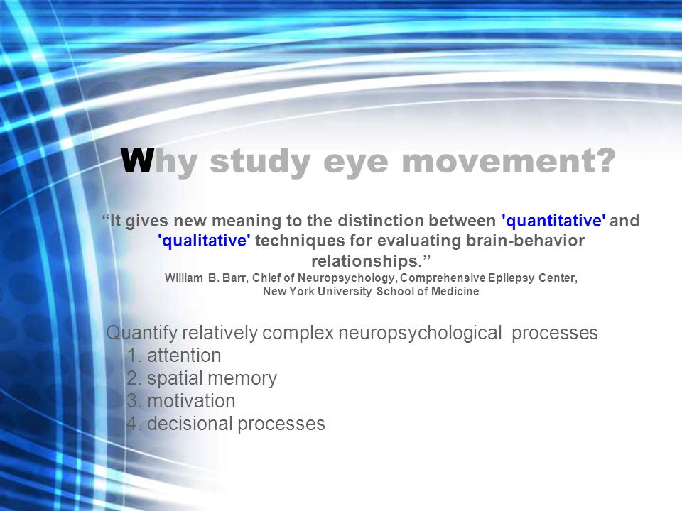 I ntroduction Classic Methods –Lesion –Electrical Stimulation Two recent methods to study eye movement –Transcranial magnetic stimulation –Functional magnetic resonance imaging