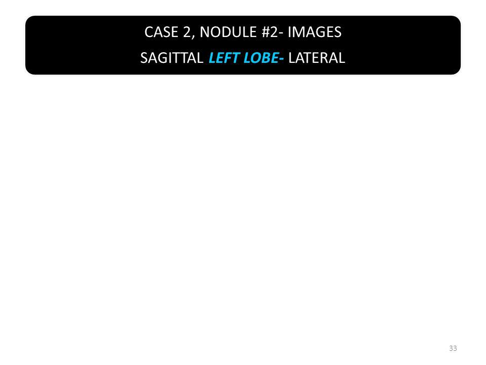 CASE 2, NODULE #2- IMAGES SAGITTAL LEFT LOBE- LATERAL 33