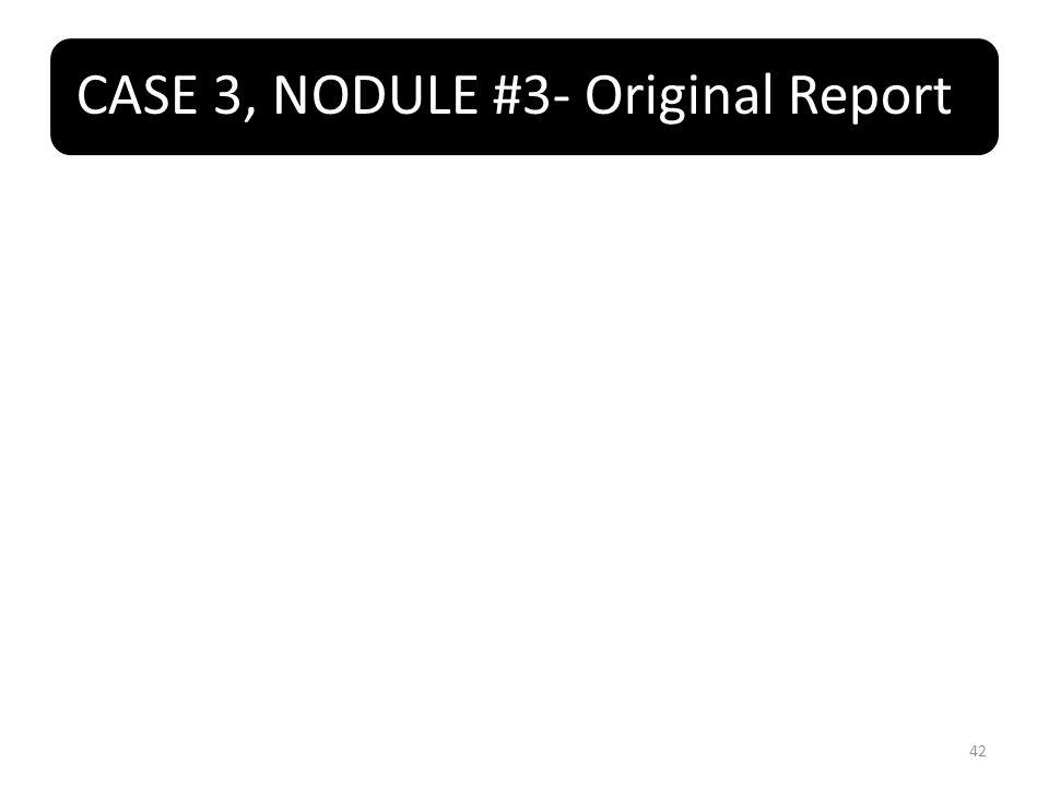 CASE 3, NODULE #3- Original Report 42