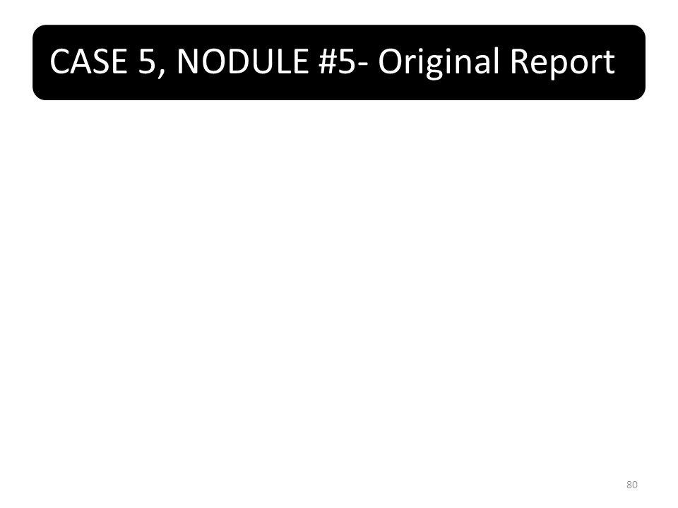 CASE 5, NODULE #5- Original Report 80