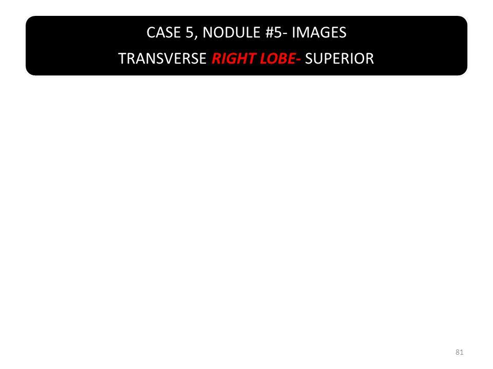CASE 5, NODULE #5- IMAGES TRANSVERSE RIGHT LOBE- SUPERIOR 81