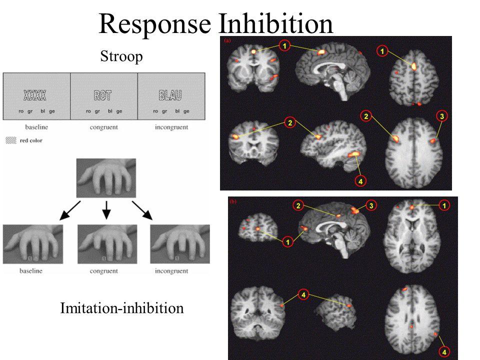 Response Inhibition Stroop Imitation-inhibition