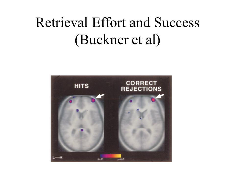 Retrieval Effort and Success (Buckner et al)
