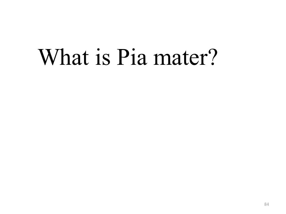 84 What is Pia mater?