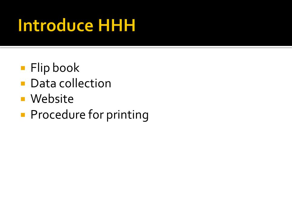  Flip book  Data collection  Website  Procedure for printing