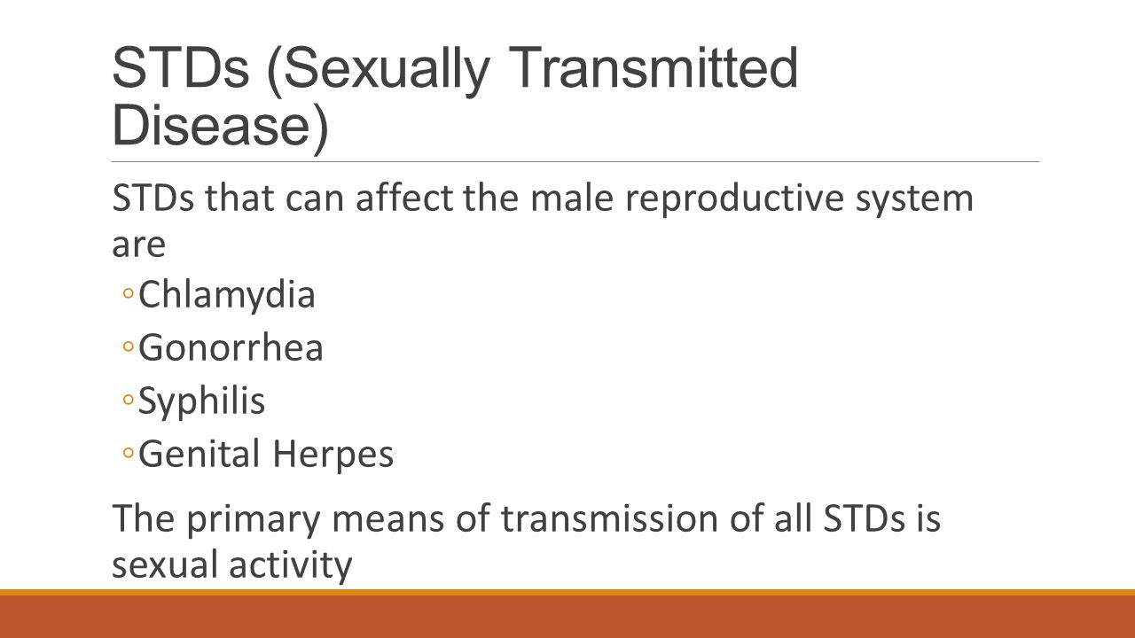 Problems of the Male Reproductive System Inguinal Hernia ◦A separation of tissue that allows part of the intestine to push the abdominal wall near the top of the scrotum ◦Treatment includes surgery Sterility ◦The inability to reproduce ◦Can result from environmental hazards, including exposure to X rays and other radiations, toxic chemicals, and lead.