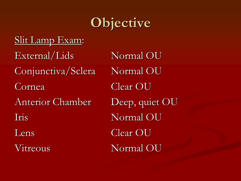 Dilated Fundus Exam OD: OS: *Inferior camera artifact