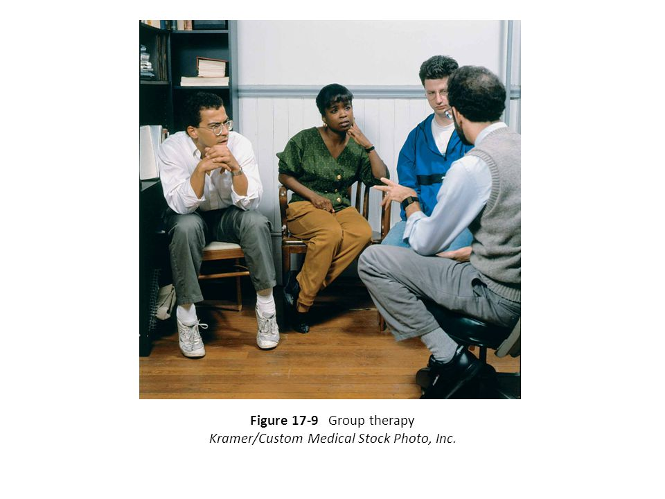 Figure 17-9 Group therapy Kramer/Custom Medical Stock Photo, Inc.