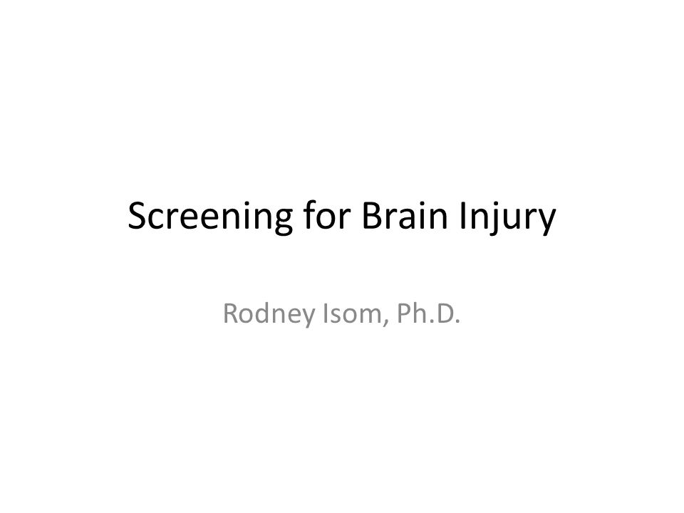 TBI TBI-Traumatic Brain Injury – When the head is hit (closed head injury) – When the head is shaken violently (closed head injury) – When the head is penetrated (open head injury) – Loss of oxygen to the brain (closed head injury)
