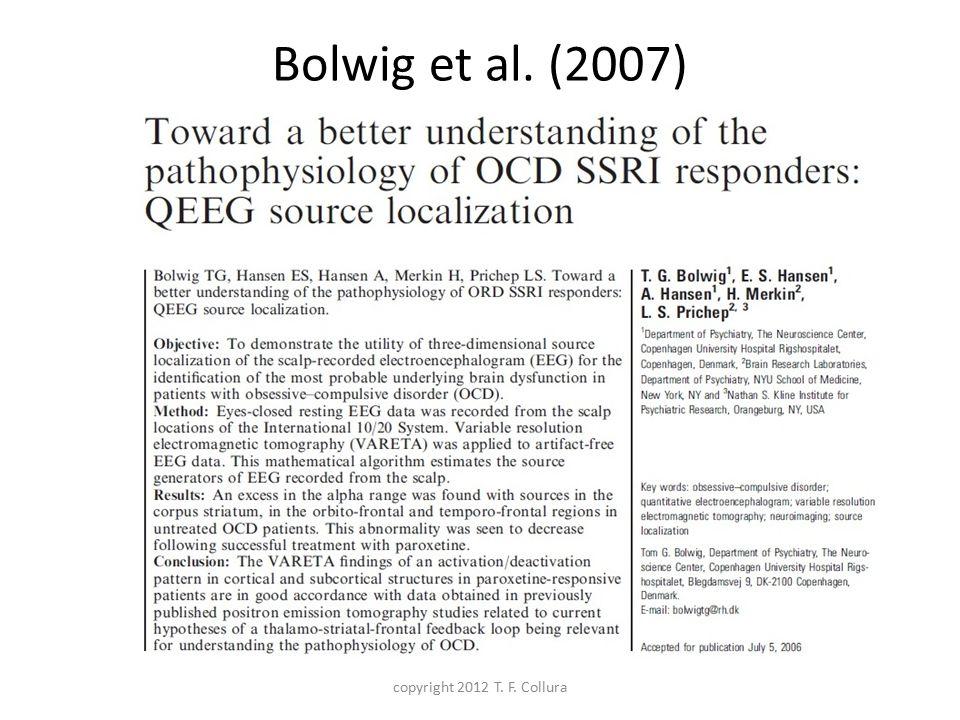 Bolwig et al. (2007) copyright 2012 T. F. Collura