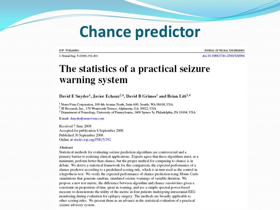 Chance predictor