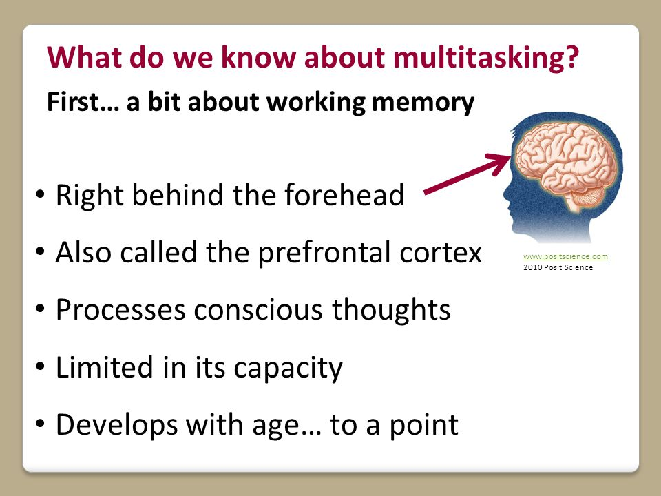 What do we know about multitasking.