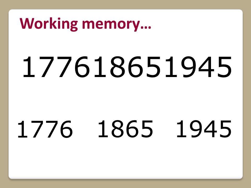 177618651945 1776 18651945 Working memory…