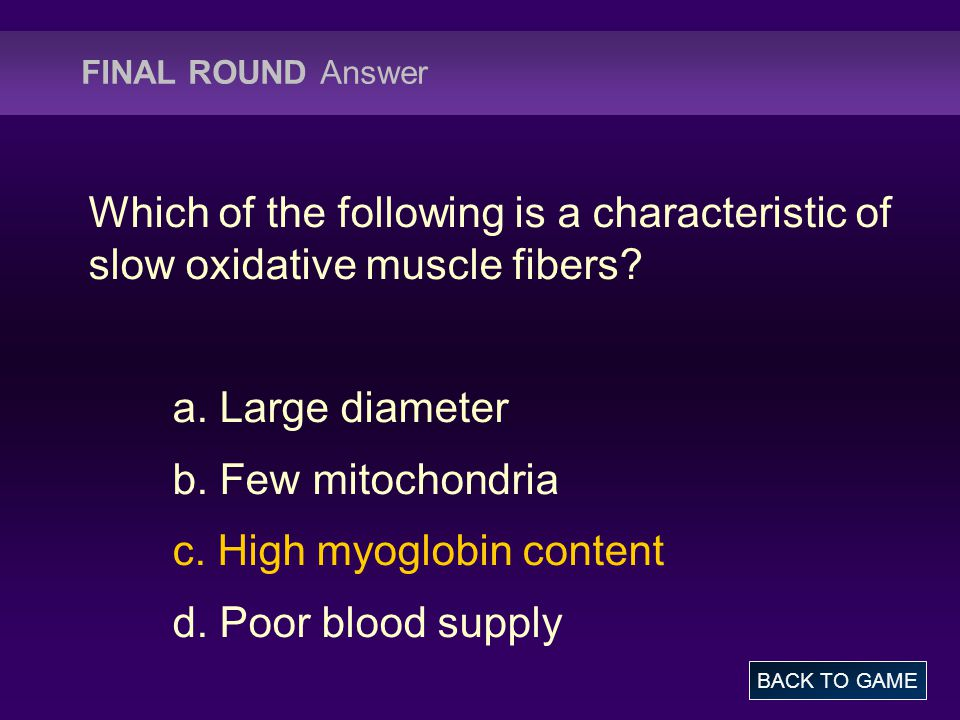 FINAL ROUND Question Describe neurotransmitters BACK TO GAME ANSWER