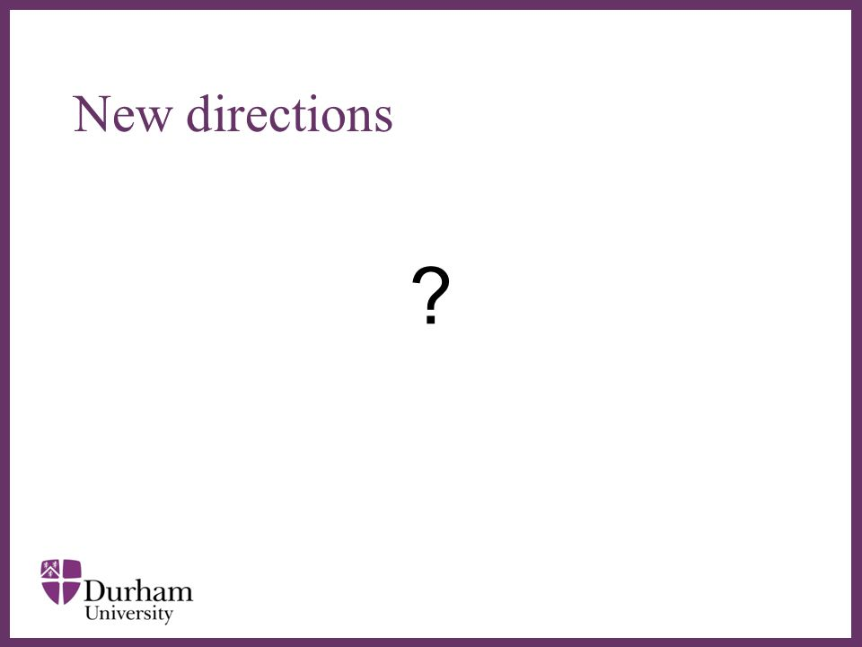 ∂ New directions