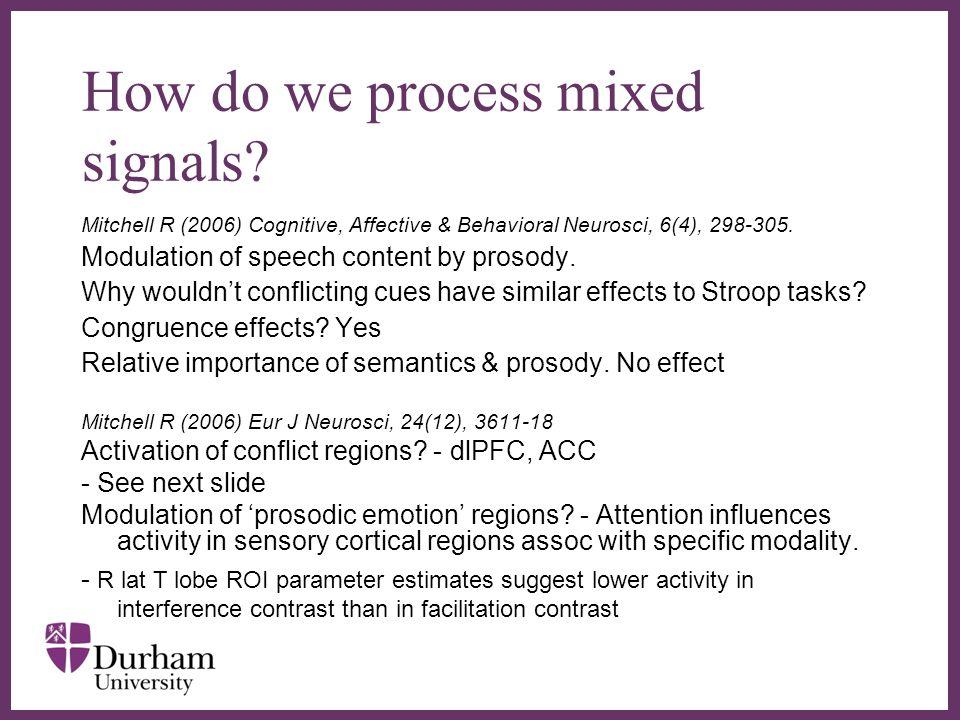 ∂ How do we process mixed signals.