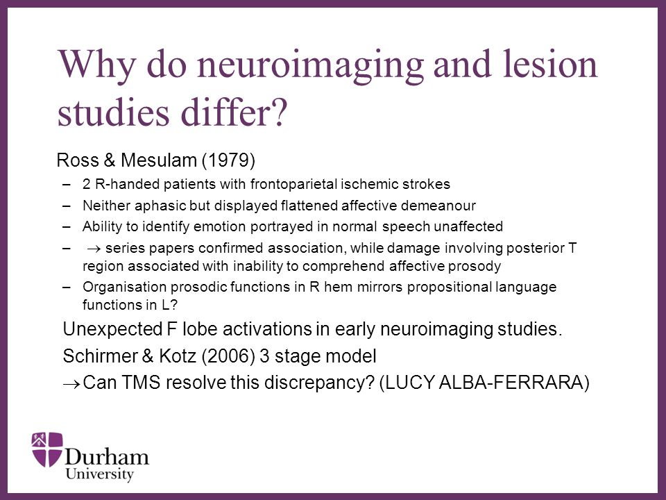 ∂ Why do neuroimaging and lesion studies differ.