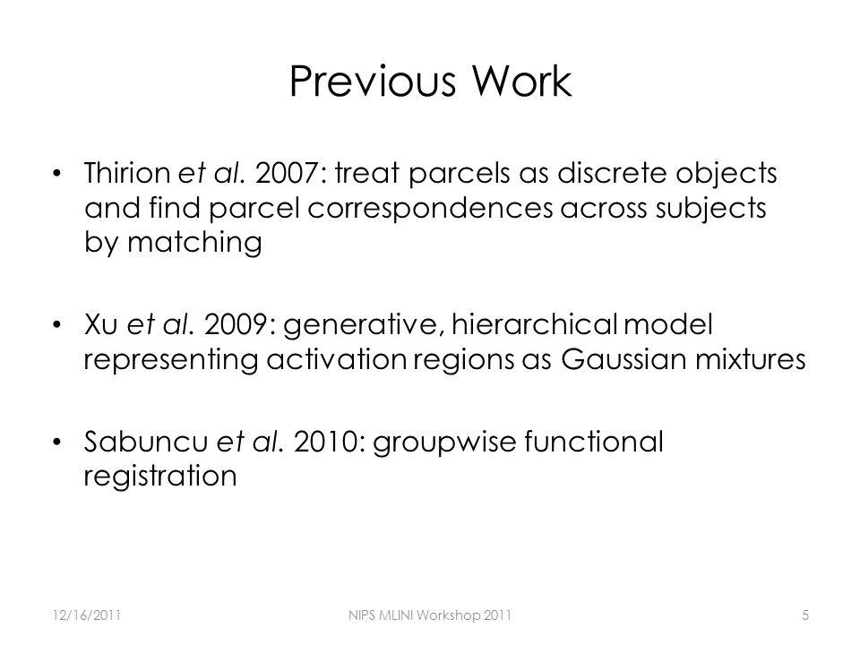 Previous Work Thirion et al.
