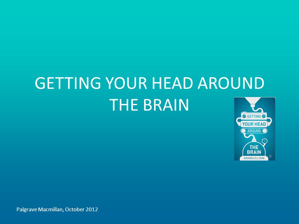 GETTING YOUR HEAD AROUND THE BRAIN Palgrave Macmillan, October 2012