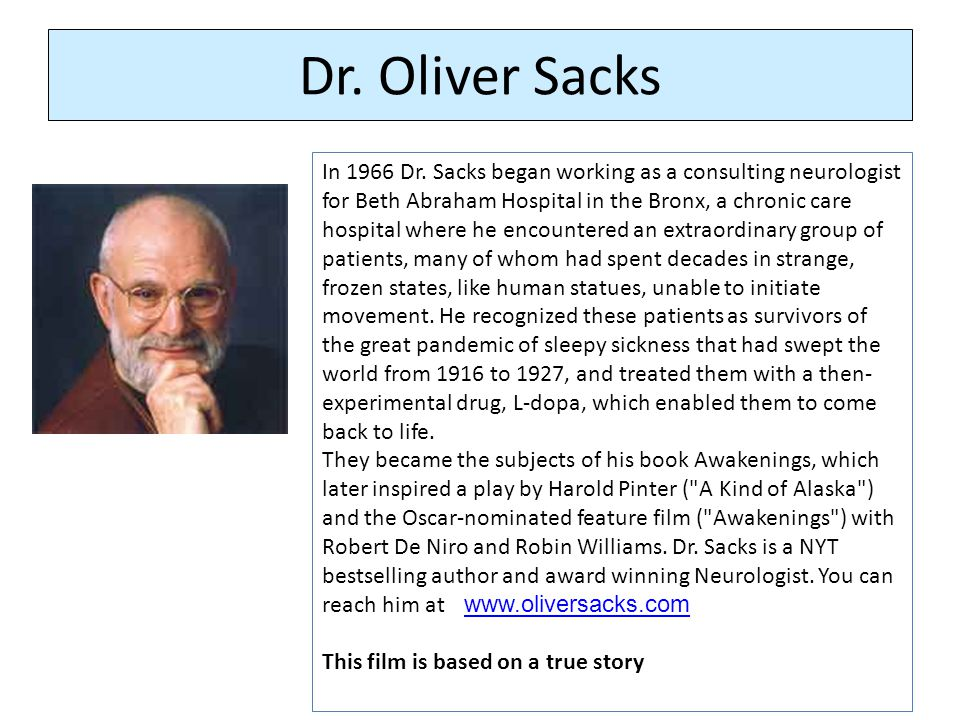 Do Now: Readings: Mystery of the Forgotten Plague Oliver Sacks Introduction: Awakenings