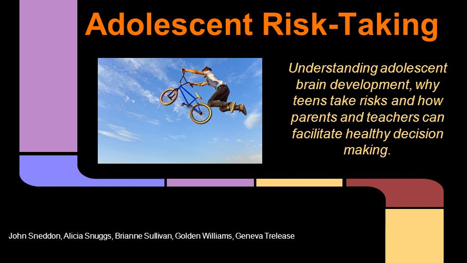 Does risk-taking behavior increase from middle school to high school?