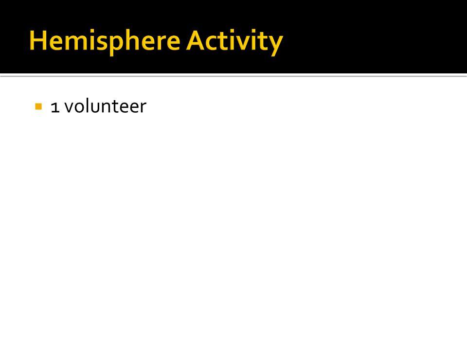 1 volunteer