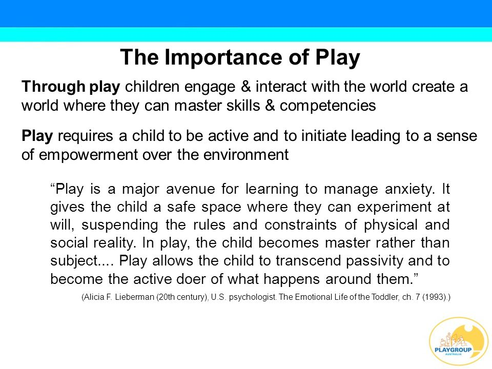 Functions of Play in Development Creating Collaborating Making choices Organising Problem Solving Taking and Sharing Responsibility Interpreting Predicting Recalling Reflecting Communicating
