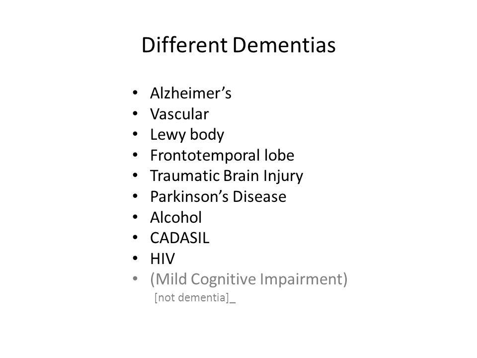 Mild Cognitive Impairment –Not Dementia.. – May Improve...