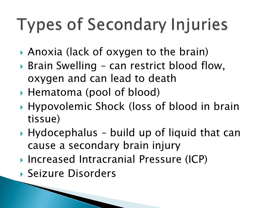  Severity of insult to the brain  Length of time in coma  Deepness of coma  Functional physical and behavioral attributes  Area of the brain impacted may cause devastating effects of even a mild injury.
