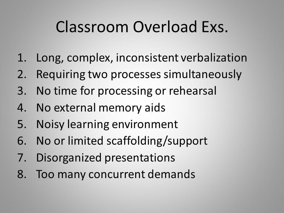 Classroom Overload Exs.