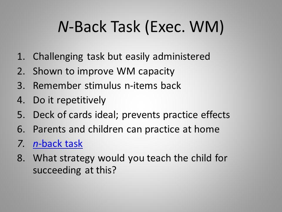 N-Back Task (Exec.