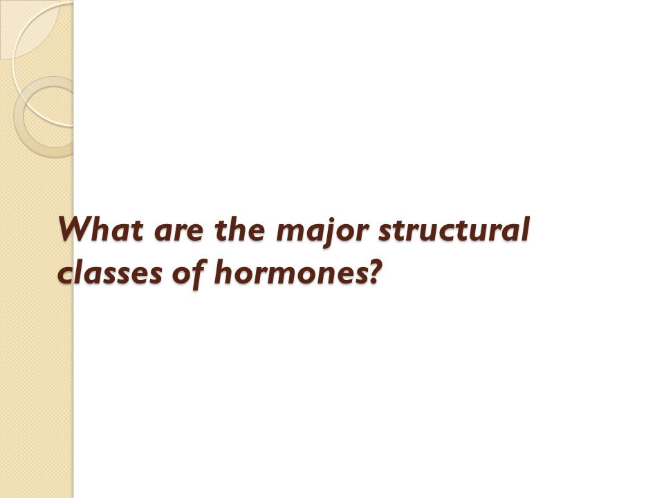 What are the major structural classes of hormones?