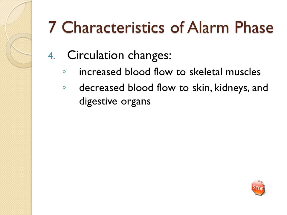 7 Characteristics of Alarm Phase 4.