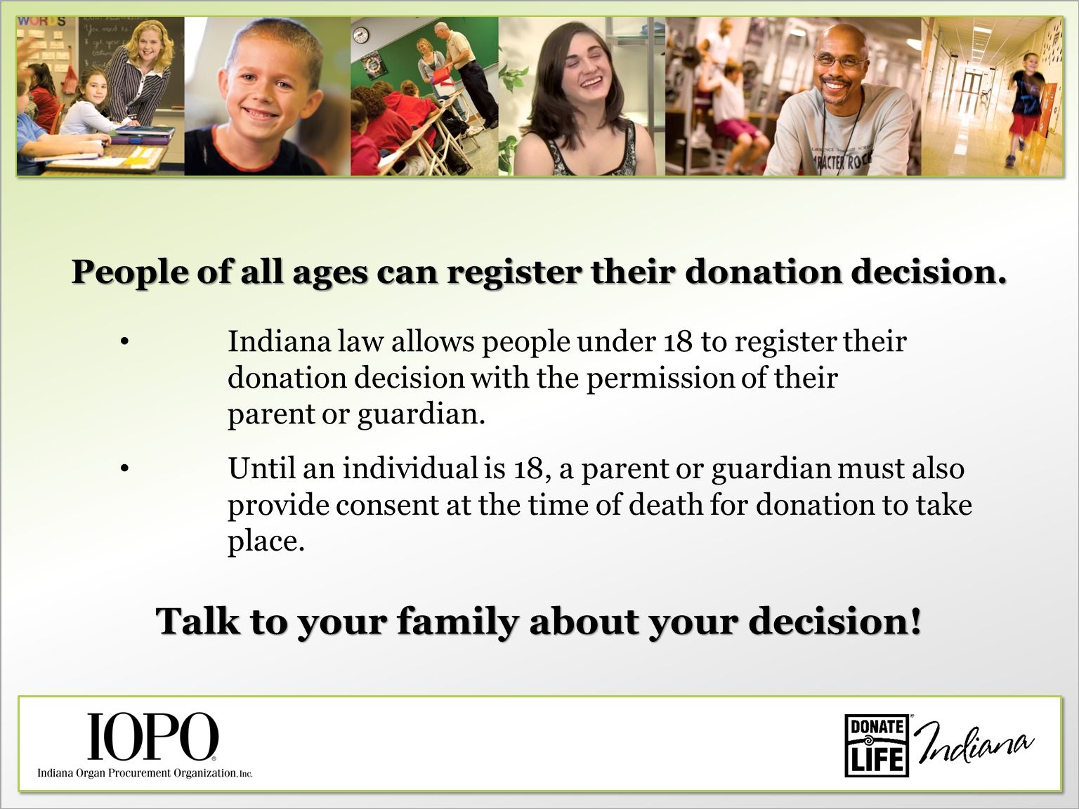 Talk to your family about your decision.