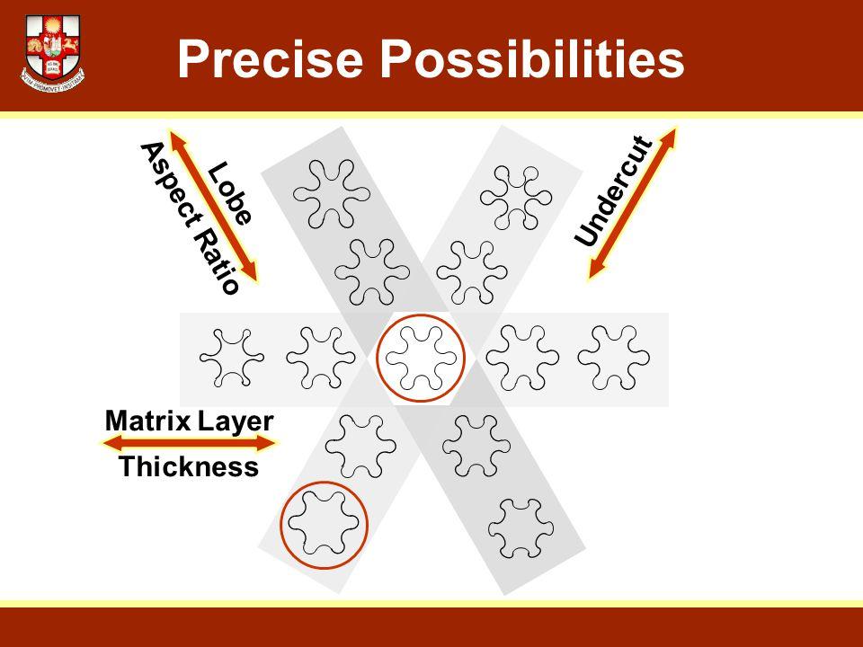 Precise Possibilities Matrix Layer Thickness Lobe Aspect Ratio Undercut