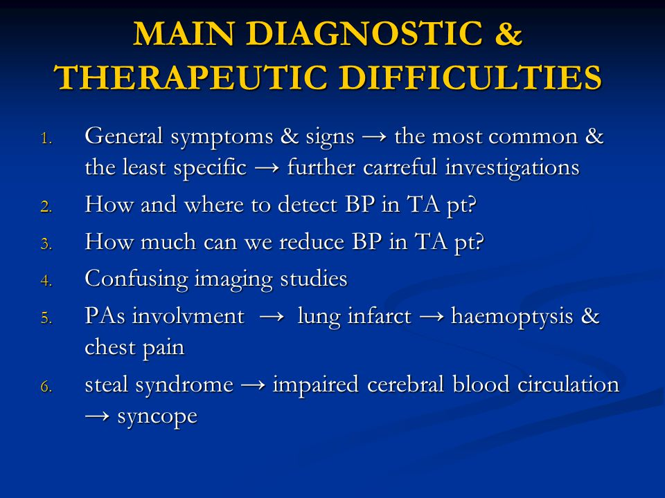 MAIN DIAGNOSTIC & THERAPEUTIC DIFFICULTIES 1.