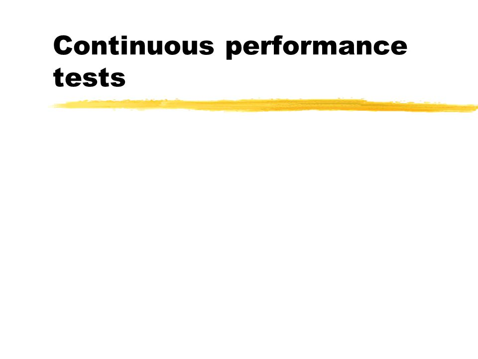 Continuous performance tests