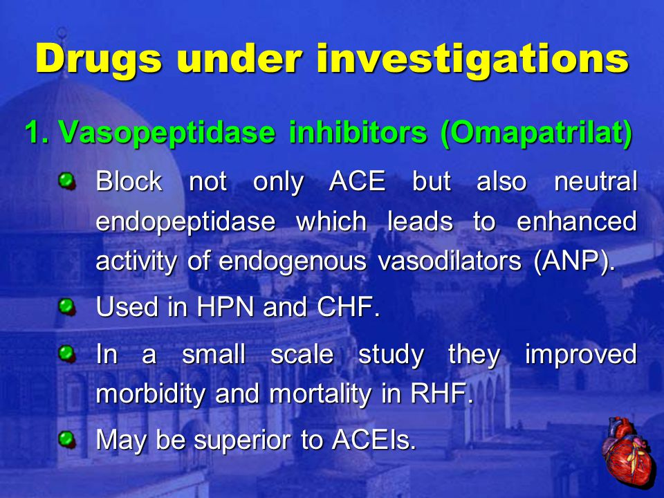 Drugs under investigations 1.