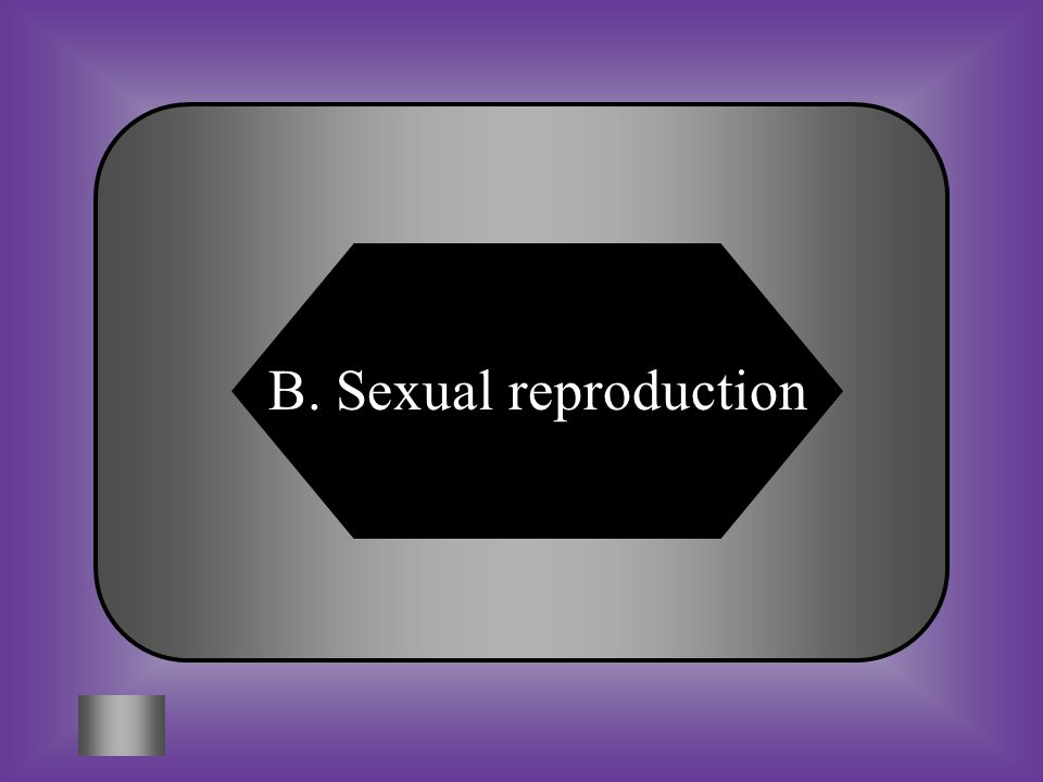 A:B: Sexual reproduction C:D: BothNeither Asexual reproduction #11 *A littler of kittens *A bee transferring pollen from one plant to another.