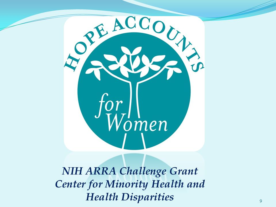 9 NIH ARRA Challenge Grant Center for Minority Health and Health Disparities