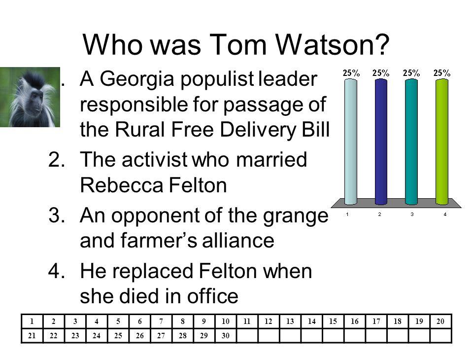 The first woman senator was 1.Georgia's Rebecca Latimar Felton 2.We haven't had one yet 3.Hamilton Holmes 4.Charlayne Hunter 1234567891011121314151617181920 21222324252627282930