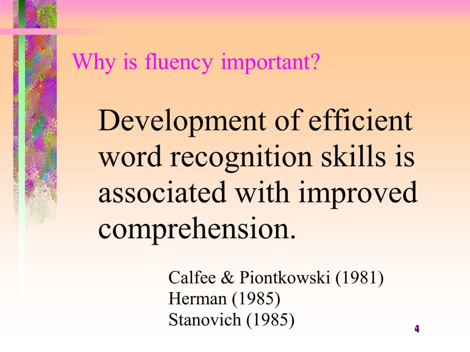 15 What is fluency in reading?