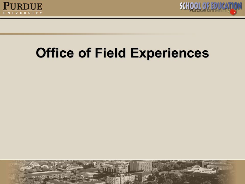 Office of Field Experiences