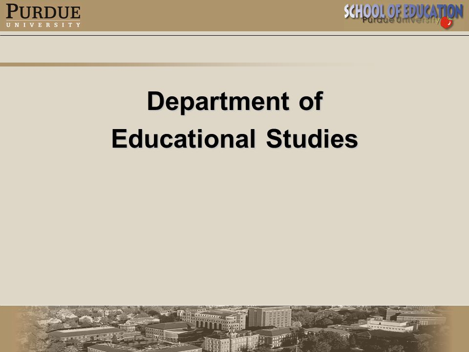 Department of Educational Studies