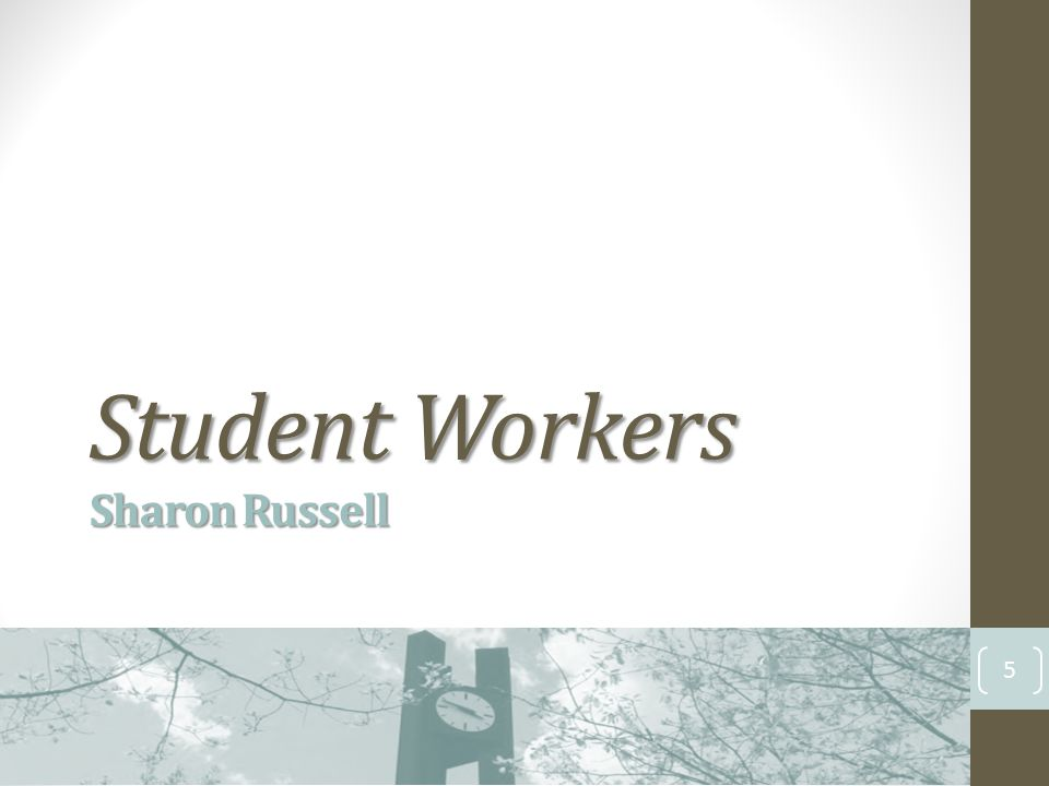 Student Workers Sharon Russell 5
