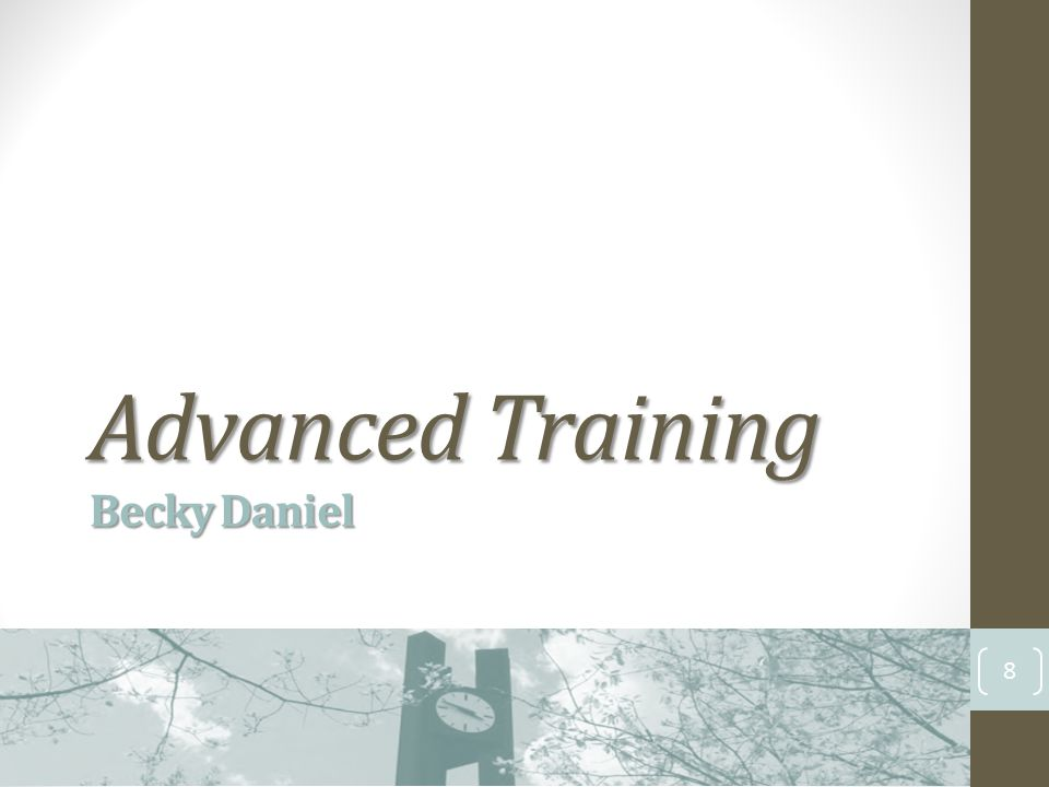 Advanced Training Becky Daniel 8
