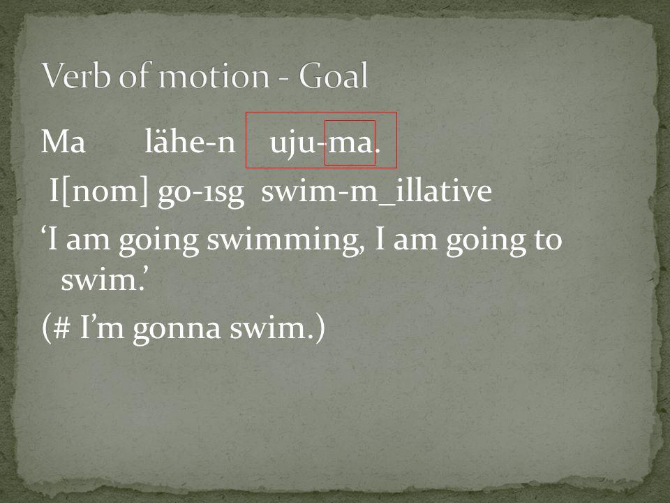 Ma lähe-n uju-ma.