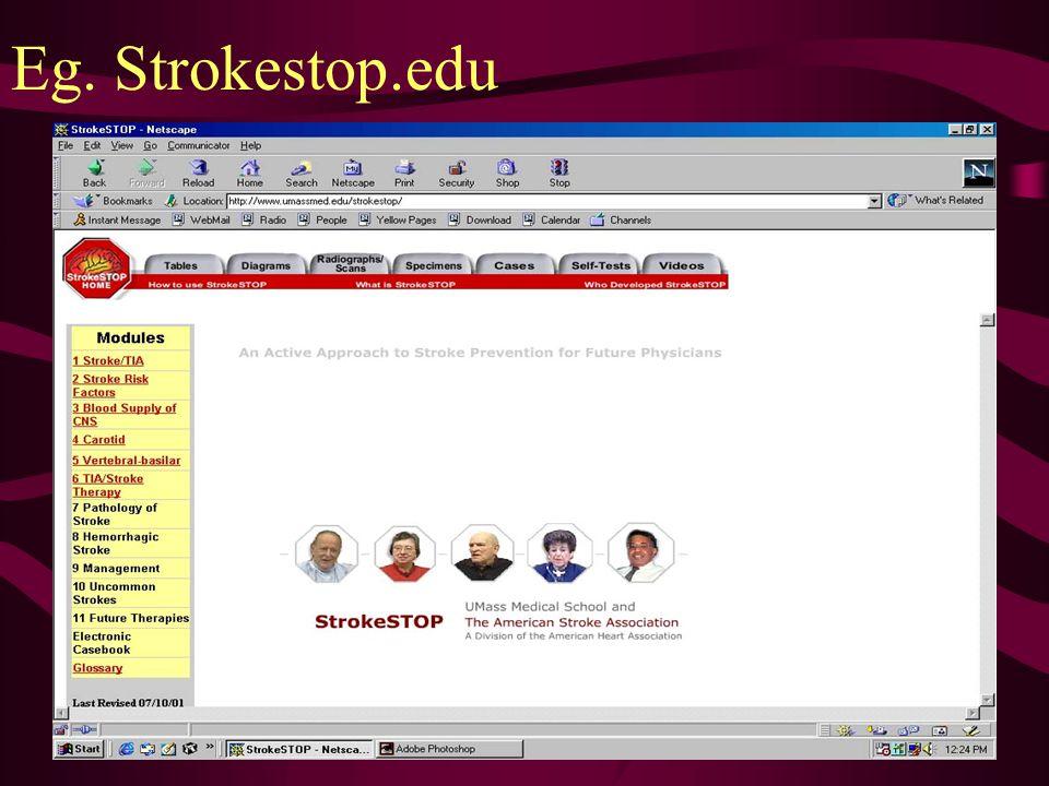 Eg. Strokestop.edu