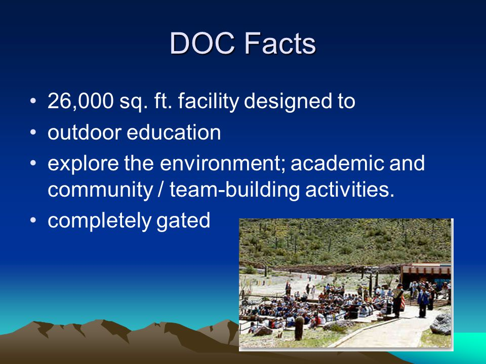 DOC Facts 26,000 sq. ft.